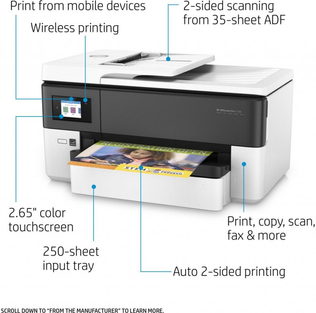 HP OfficeJet Pro 7720 Wide Format. redlinesys.com