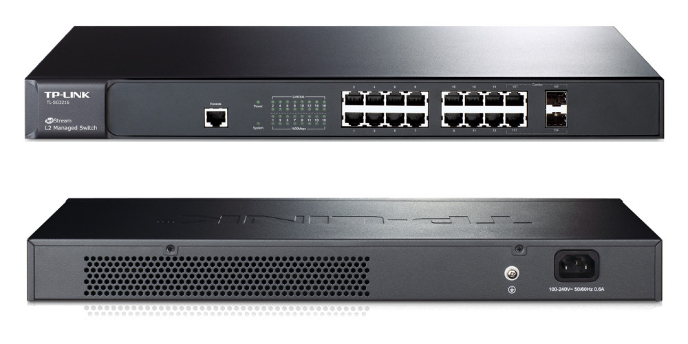 Tp-Link Jetstream 16-Port Gigabit L2 Managed Switch  TL-SG3216. REDLINESYS.COM,